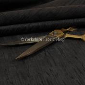 Quality Soft Textured Black Velvet Velour Upholstery Curtains Furnishing Fabric