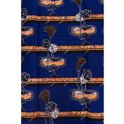 Wholesale Ankara Fabrics Lagos Real Wax Blue Orange Rubik's Cube Designs 6 Yards rw175721