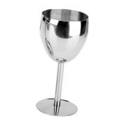 Sharplace 14.5cm Wine Glass Stainless Steel Goblets High Wine Cup Home Bar Wine Mug
