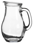 Traditional Classic Design 1 Litre Glass Water Juice Jug Pitcher With Generous Sized Handle