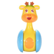 Zantec Cartoon Giraffe Tumbler Doll Roly-poly Rattles Baby Toys Cute Early Educational Toy for Newborns 3-12 Month