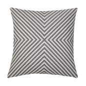 SLOW COW Cotton Embroidery Cushion Covers for Bed Couch Sofa, Invisible Zipper Vintage Compass Geometric Grey Dots Floral Embroidered, 46cm x 46cm .