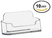 Deflecto Business Card Holders Single Compartment, 7.6cm - 1.9cm W x 2.5cm - 2.2cm H x 2.5cm - 1.3cm D, Clear (70101)