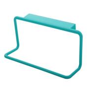 Gemini_mall Towel Rack Hanging Holder Organiser Bathroom Kitchen Cabinet Cupboard Hanger Blue