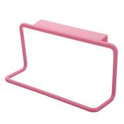 Gemini_mall Towel Rack Hanging Holder Organiser Bathroom Kitchen Cabinet Cupboard Hanger Pink