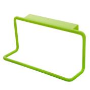 Gemini_mall Towel Rack Hanging Holder Organiser Bathroom Kitchen Cabinet Cupboard Hanger Green