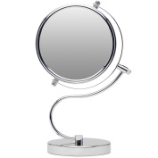 Cute N Curvy Double-Sided Makeup Mirror w/1x 10x Magnification for Vanity Countertop by Mirrorvana, 15cm