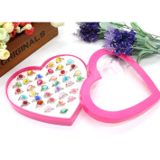 HUELE 36 Assorted Plastic Rings Princess Theme Party Favours