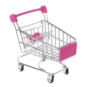 RingBuu Mini Supermarket Shopping Cart, Small Handcart Storage Ornament, Fun Little Cart Toy for Pets