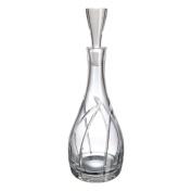 Bohemian Glass Fantasia Bottle Liquor or Whisky Glass, 11 x 11 x 26 cm