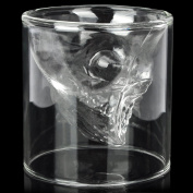 Creative Scary Skull Design Cup Shot Glass - Transparent White