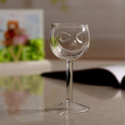 Kicode Crystal Skull Wine Glass Cup Goblet Halloween Dining Party Bar KTV Kitchen Drink Creative Ghost