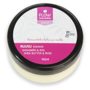 Flow Cosmetics Shea Butter & Rose | Body Botter For Dry And Sensitive Skin | All Natural And Organic Ingredients |With Pure Rose Essential Oil- Aromatherapeutic Effect | Preservative Free