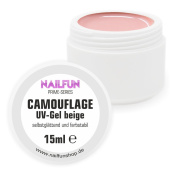 Nailfun Camouflage Gel Beige  with Fibreglass Prime Series – Maximum Coverage – Elastic – Viscous Self-Levelling – Modelled