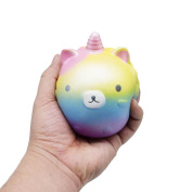 MEIbax Squishy Horns Bear Squishy Decor Slow Rising Kid Toy Squeeze Relieve Anxiet Gift
