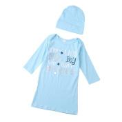 Pu Ran Fashion Toddler Baby Boys Girls Letter Print T-Shirt Cap Hat Outfit Warm Clothing