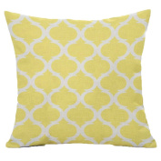 beiguoxia Geometric Pattern Linen Throw Pillow Case Sofa Bed Cushion Cover for Car, Cream