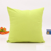Home Room Sofa Bed Decor Solid Colour Throw Pillow Case Square Cushion Cover