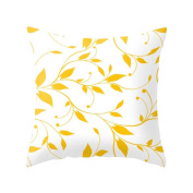 Livecity Pineapple Leaf Yellow Pillow Case Sofa Car Waist Throw Cushion Cover Home Decor size 11 Flowery Vines White Yellow