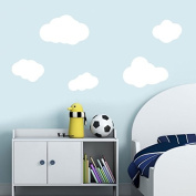 Set of 5 white clouds, wall stickers Nursery wall decal Childrens Wall Stickers Art 211