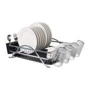 Micoe Dish Drainer Drying Rack 1 tier Tableware organiser with Cup Holder Large Capacity WDT1001