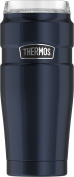 Thermos Stainless King 590ml Travel Tumbler with 360 Degree Drink Lid, Midnight Blue