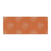 "KESS InHouse Anneline Sophia ""Simpley Protea"" Orange Bed Runner, 90cm x 220cm"