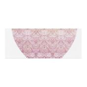 "KESS InHouse Pom Graphic Design ""Love"" Pink White Bed Runner, 90cm x 220cm"