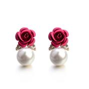 Women's Earrings Studs,Lavany Bohemia Flower Rhinestone Earrings For Women Summer Style Jewellery