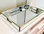 Glamour Magnet Mirrored Glass Vanity Tray