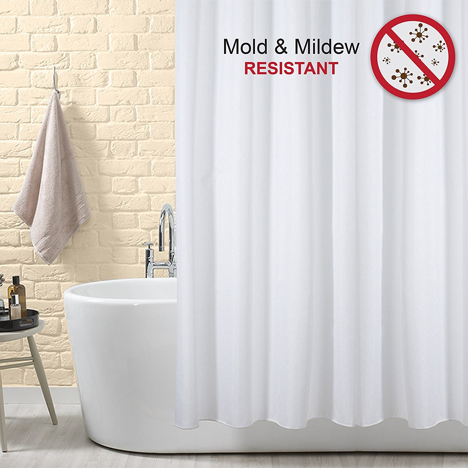Shower Curtain 100 Polyester Fabric With Mould And Mildew Resistant