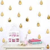 22 unds Stickers Wall Golden Drops for Children's Bedrooms Babyphone Salon Open Buy Hall