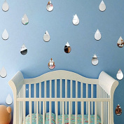 22 unds Stickers Wall Drops Silver For Children's Bedrooms Babyphone Salon Open Buy Hall