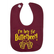 I'm here for Butterbeer Harry Potter Novelty baby Bib 100% Cotton Novelty Baby Gifts