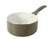 Crealys Mistral 511341 Saucepan Aluminium with Ceramic Coating 18 cm Taupe / Cream