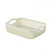 Curver Knit Effect Storage Tray Medium - Cream