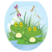 Toilet Tattoos Floating Frogs Toilet Seat Decal