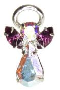 Crystal Elements Birthstone Guardian Angel Pin/Brooch/Badge February - Amethyst