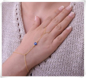 Evil eye Slave Bracelet-Hand Chain,Gold Finger Bracelet, Gold Slave Bracelet-Chain Ring
