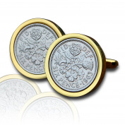 1963 Gold Sixpence Coin Cufflinks Vintage 55th Birthday Anniversary