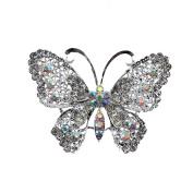 MultiWare Large Vintage Alloy Rhinestone Butterfly Brooch Broach Pin Wedding