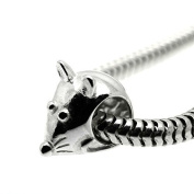 Mouse - Cute - Animal - 925 Sterling Silver Charm Bead - European Style