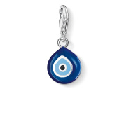 Thomas Sabo Women-Charm Pendant Turkish eye Charm Club 925 Sterling Silver blue black 0829-007-1
