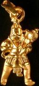 Lord Hanuman Pendant - 18 K Gold