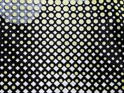 Geometric Spot Print Stretch Satin Dress Fabric Lemon - per metre