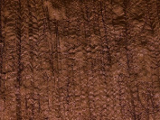 Embroidered Creased Satin Dress Fabric Brown - per metre