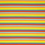 STRIPE JERSEY FABRIC - Multi-Coloured Rainbow Stripe - Jersey Fabric - SWAJ77 - By 0.5 Metre - By Swafing