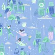 PETER PAN FABRICS - Peter Pan Main Periwinkle - RBF782 - By 0.5 Metre - By Riley Blake - 100% Cotton
