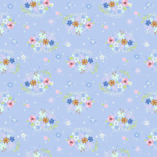 PETER PAN FABRICS - Peter Pan Floral Periwinkle - RBF786 - By 0.5 Metre - By Riley Blake - 100% Cotton