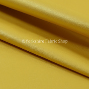 Light Weight Durable Vinyl Gold Faux Leather Upholstery Furnishing Craft Fabric